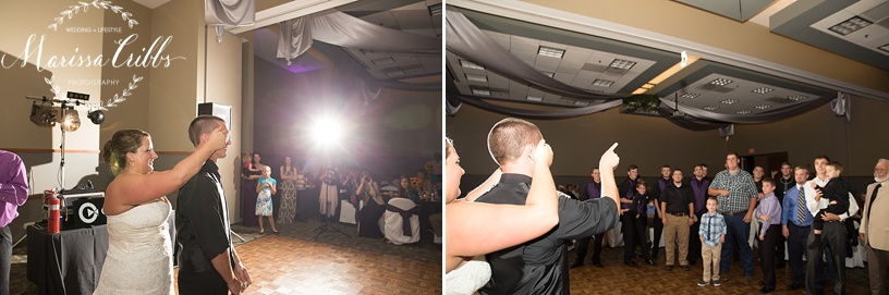 Ball Conference Center | KC Wedding Photographer | Wedding Reception | Marissa Cribbs Photography | Garter Toss