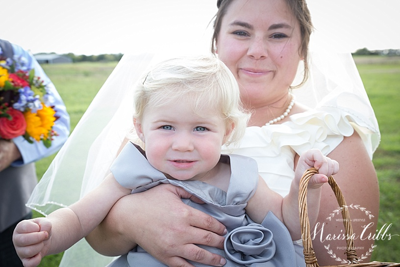 Flower Girl | Bride | Weddings | Marissa Cribbs Photography