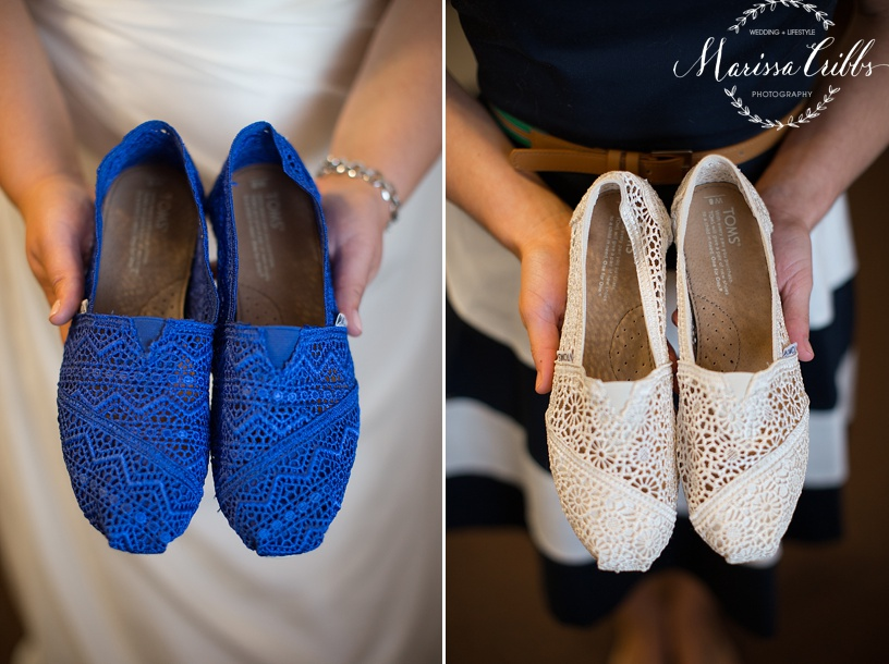 Bride Shoes | Bridesmaids Shoes | TOMS | Marissa Cribbs Photography