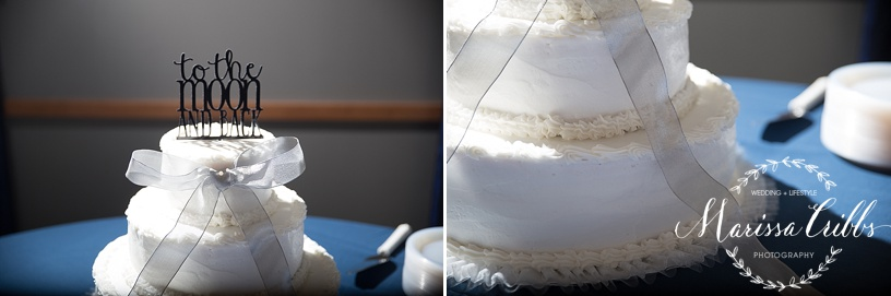 Wedding Cake | Cake Topper | Ball Conference Center Reception | Marissa Cribbs Photography