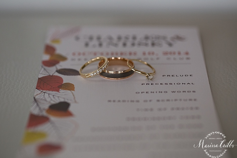 Wedding Programs | Wedding Bands | Marissa Cribbs Photography
