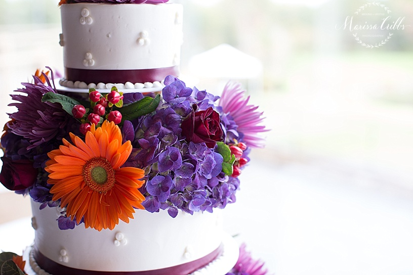 Wedding Cake | Deer Creek Golf Club | Sugar and Spice | Flowers By Emily | Marissa Cribbs Photography