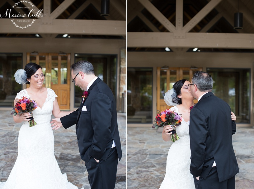 KC Weddings | Deer Creek Golf Club | First Look | Marissa Cribbs Photography