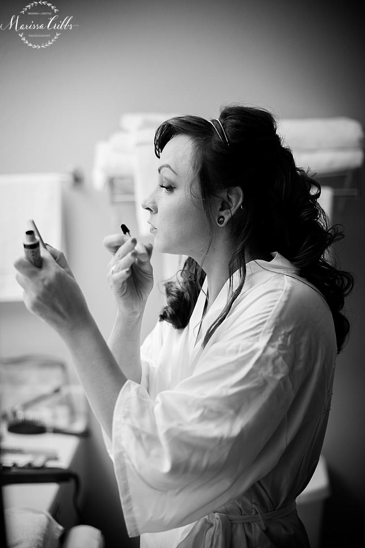 Bride getting ready | KC Weddings