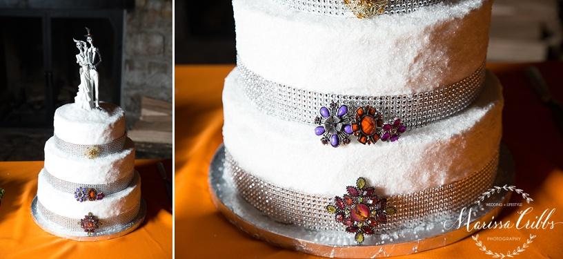 Wedding Cake | KC Weddings | James P. Davis Hall