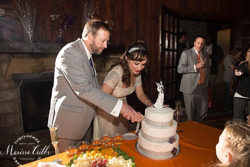 Cake Cutting | KC Weddings | James P. Davis Hall