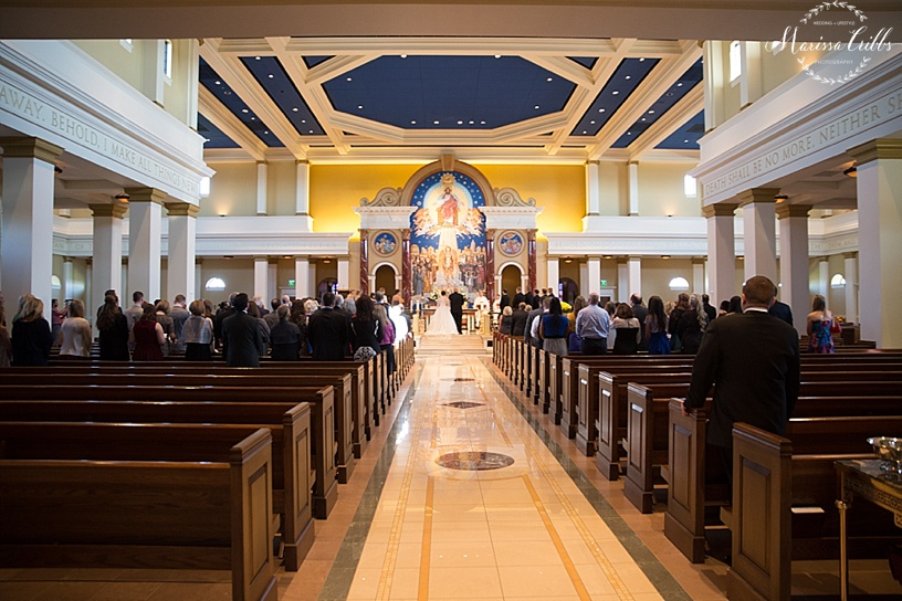 St. Michael The Arch Angel | Leawood, KS | Marissa Cribbs Photography | Wedding Ceremony