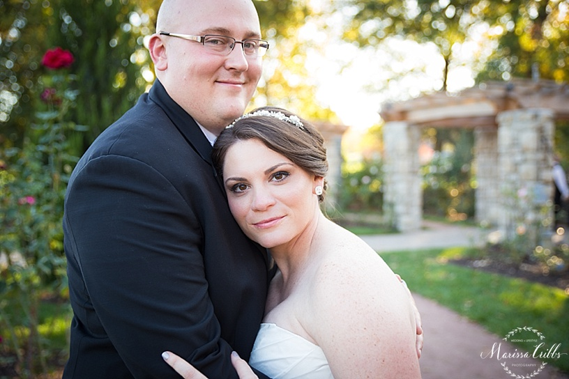 Bride and Groom Portraits | Loose Park | Kansas City Wedding Photographer | Marissa Cribbs Photography