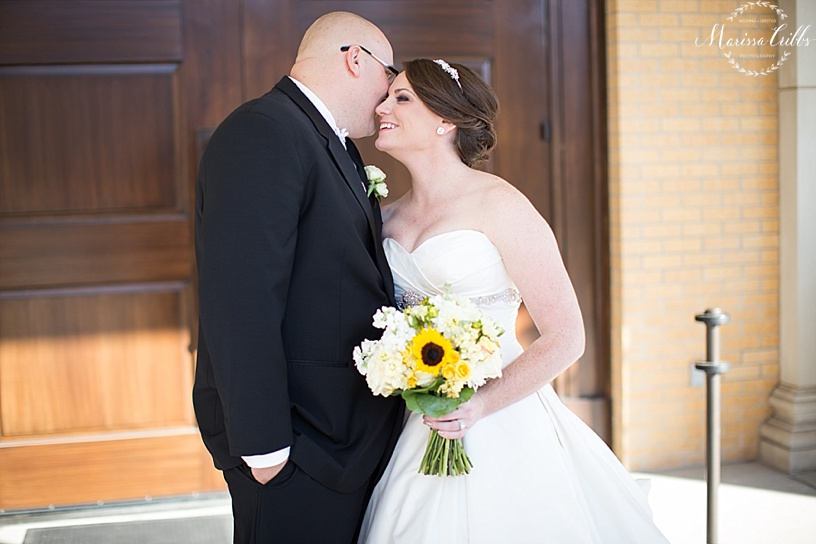 Bride and Groom Portraits | St. Michael The Arch Angel | Kansas City Wedding Photographer | Marissa Cribbs Photography