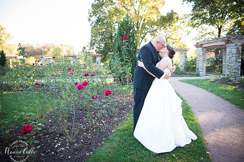 Bride and Groom Portraits | Loose Park | Kansas City Wedding Photographer | Marissa Cribbs Photography | Rose Garden