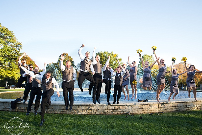 Wedding Party | Loose Park | Kansas City Wedding Photographer | Marissa Cribbs Photography