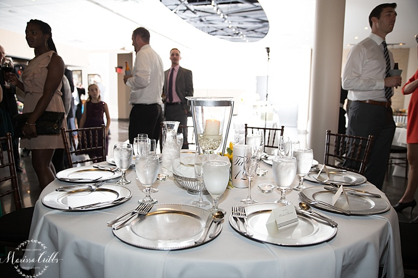 Wedding Reception | The Venue in Leawood | Marissa Cribbs Photography | Table Setting
