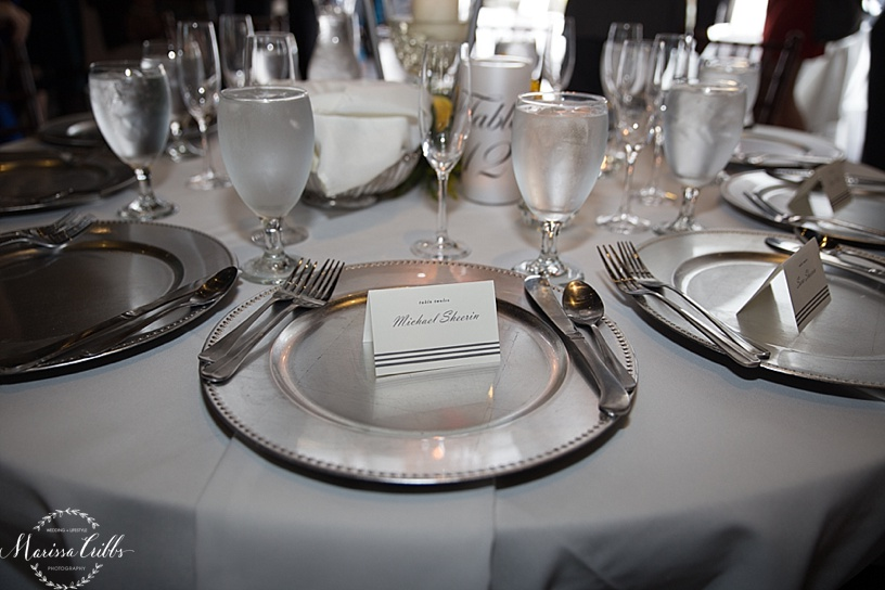 Wedding Reception | The Venue in Leawood | Marissa Cribbs Photography | Place Setting