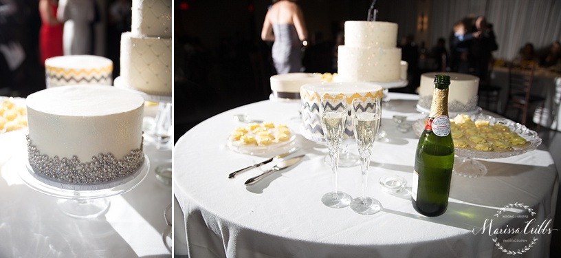 Wedding Reception | The Venue in Leawood | Marissa Cribbs Photography | Cake