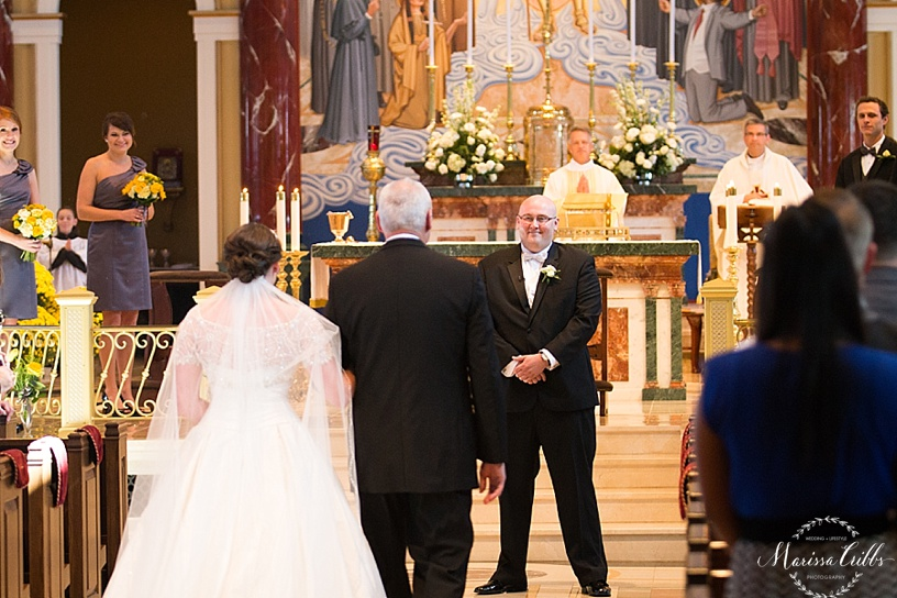 St. Michael The Archangel Wedding Ceremony | Marissa Cribbs Photography