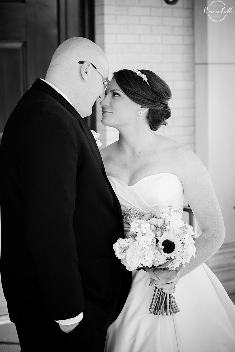 Bride and Groom | St. Michael The Archangel | Marissa Cribbs Photography | KC Wedding Photographer