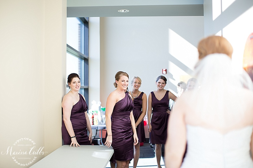 Bridesmaids First Look | Getting ready | Ball Conference Center | KC Wedding Photographer | Marissa Cribbs Photography