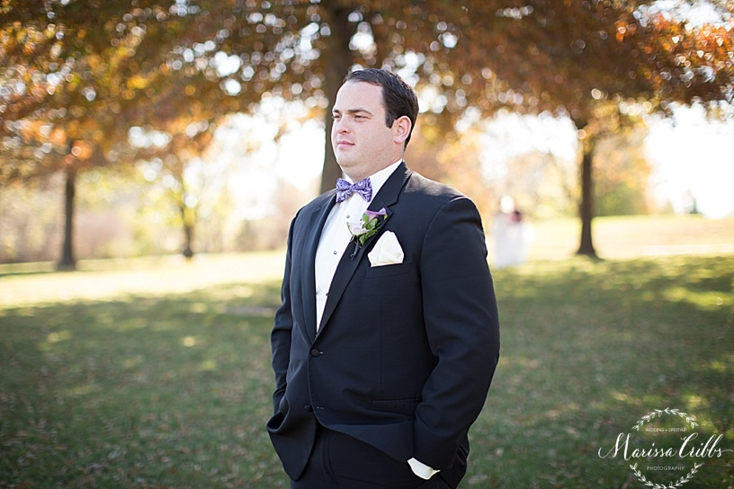 Groom | Ball Conference Center | KC Wedding Photographer | Marissa Cribbs Photography