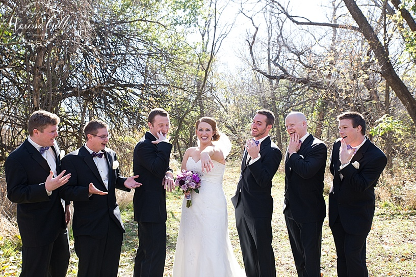 Groomsmen Photos | Wedding Party Photos | Bridesmaids | Bridal Photos | KC Wedding Photography | Marissa Cribbs Photography