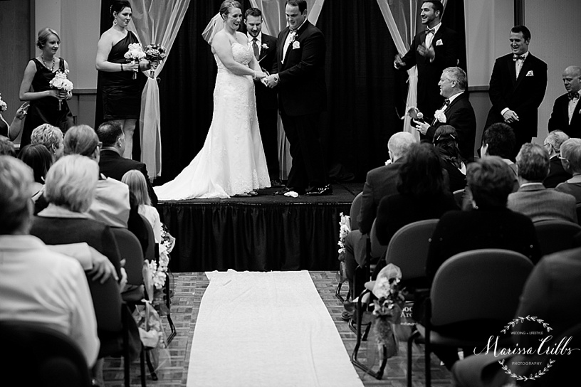 Breaking the glass tradition | Ball Conference Center | KC weddings | Marissa Cribbs Photography | Wedding Ceremony and Reception Photos