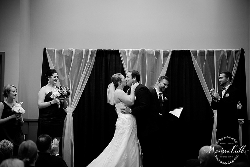 Ball Conference Center | KC weddings | Marissa Cribbs Photography | Wedding Ceremony and Reception Photos