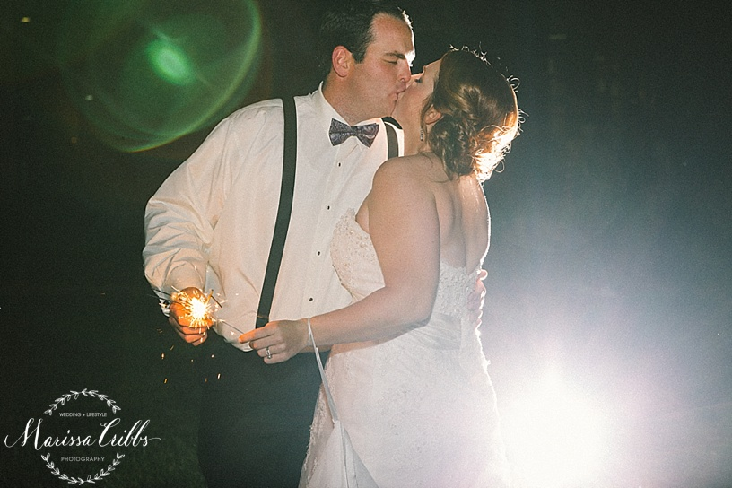 Sparkler Send Off | Bride and Groom | Weddings | KC Weddings | Ball Conference Center | Marissa Cribbs Photography