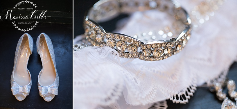 Bridal accessories | The HIlton President Hotel Kansas City | Marissa Cribbs Photography
