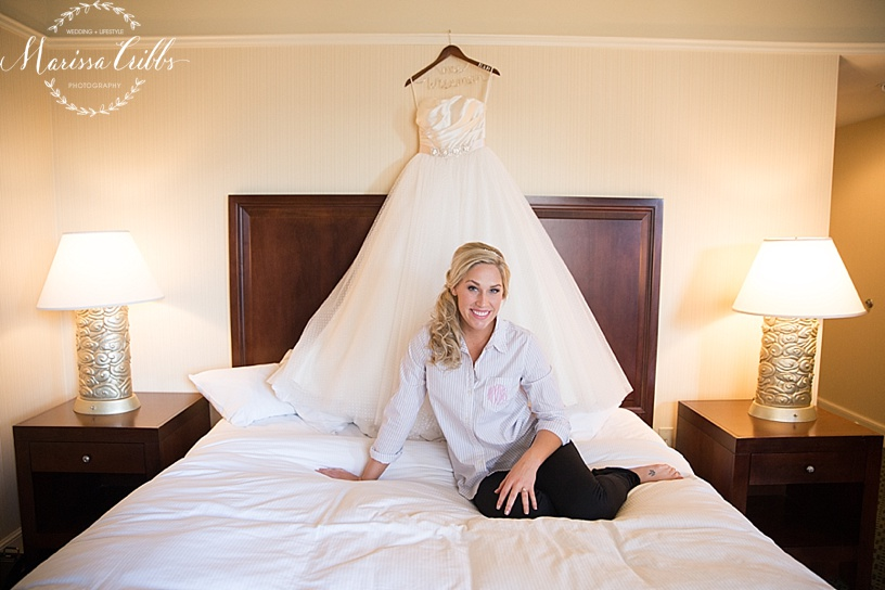 Bride | The HIlton President Kansas City | Emily Hart Bridal Gown | Marissa Cribbs Photography
