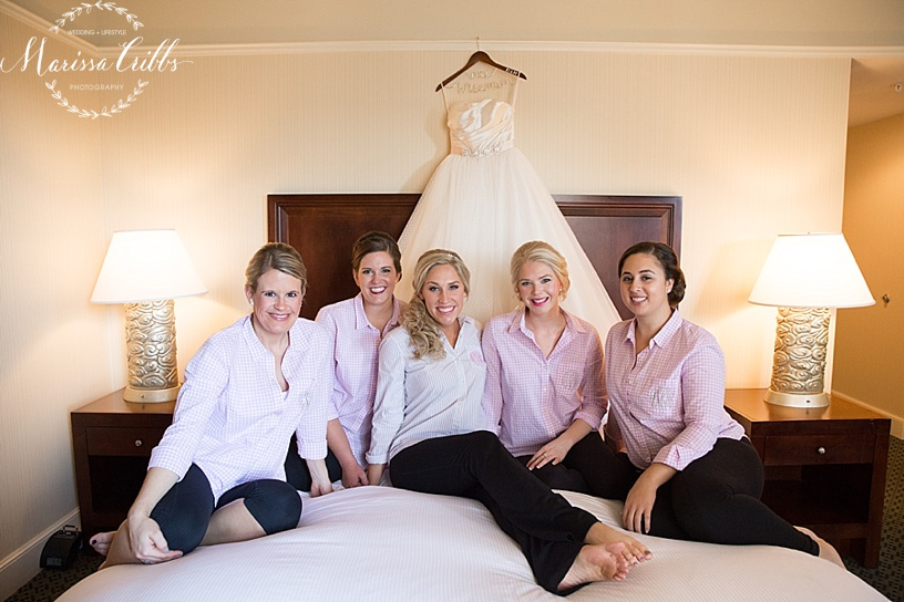 Bride | The HIlton President Kansas City | Emily Hart Bridal Gown | Marissa Cribbs Photography | Bridesmaids | Getting Ready