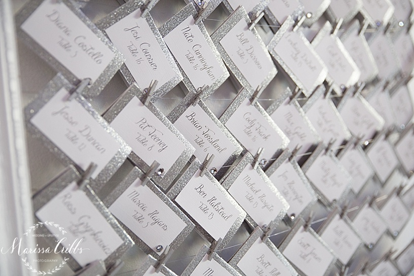 Escort Cards | The Gallery Event Space | Marissa Cribbs Photography