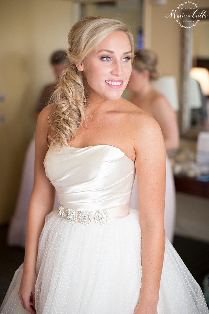 Bride Getting Ready | The President Hotel Kansas City | Marissa Cribbs Photography | KC Wedding Photographer