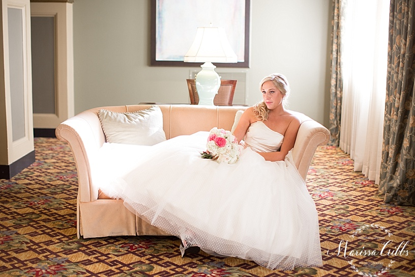 Bridal Portraits | The President Hotel Kansas City | Marissa Cribbs Photography | KC wedding Photographer