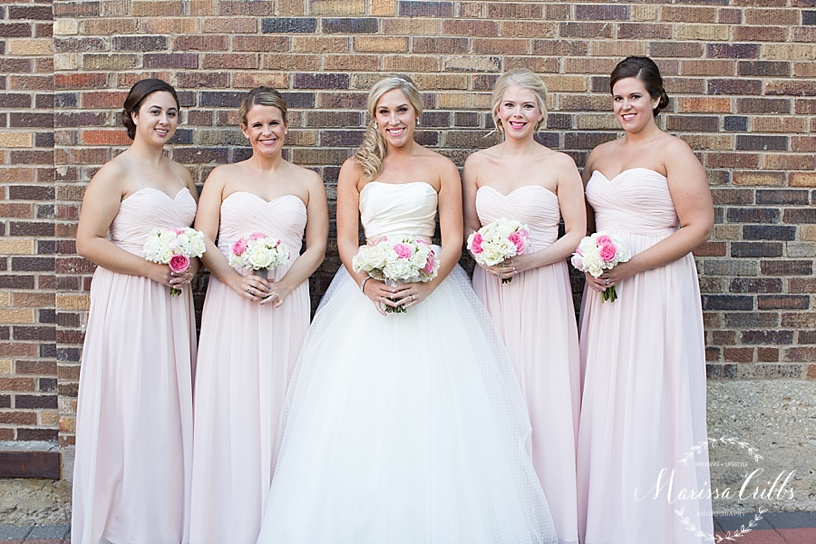 Bridal Portraits | The President Hotel Kansas City | Marissa Cribbs Photography | KC wedding Photographer | Bridesmaids