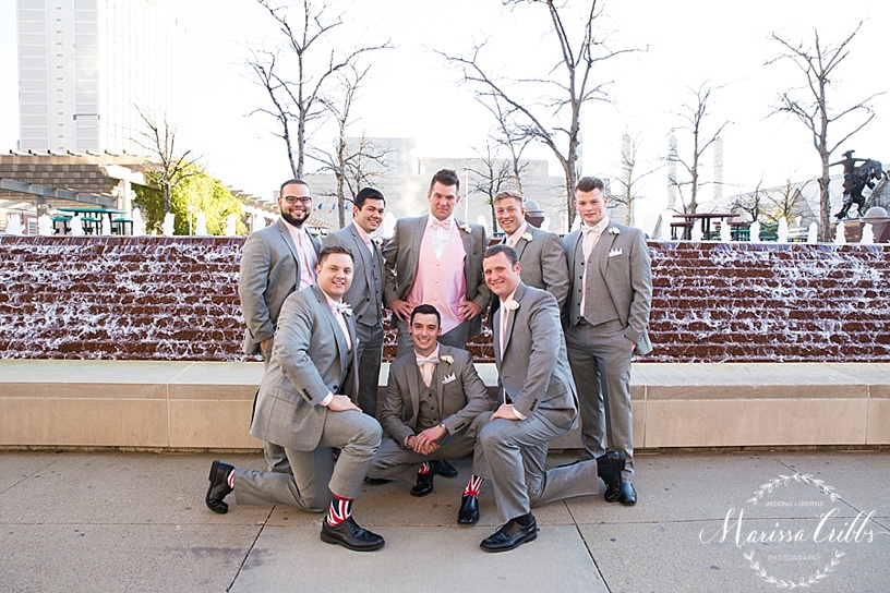 Groomsmen Photos | KC Wedding Photographer | Marissa Cribbs Photography | Downtown KC