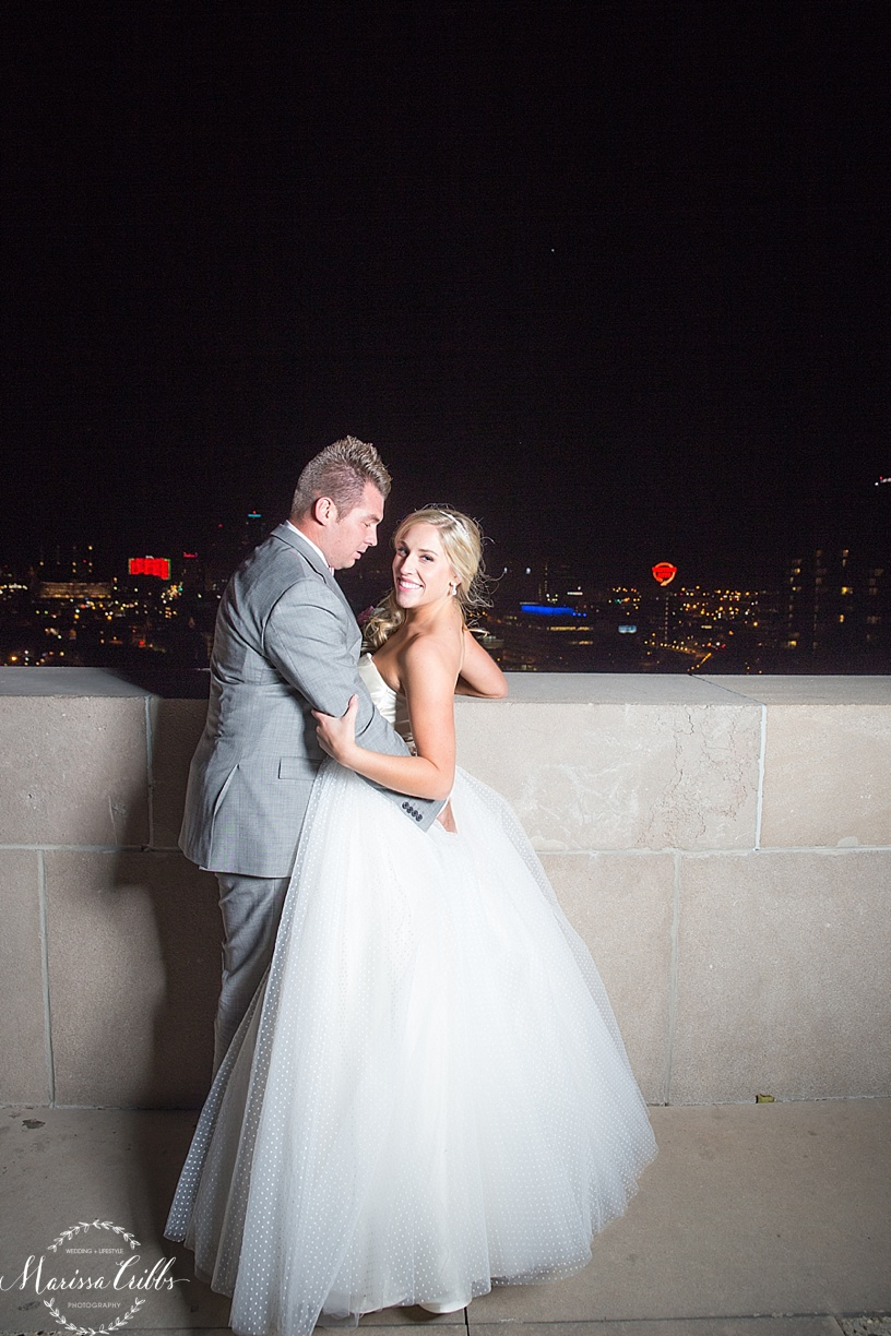 Bride and Groom Photos | Flash Photography | Downtown KC | KC Wedding Photographer | Marissa Cribbs Photography