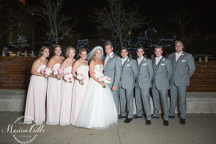Bridal Party | Bride and Groom Photos | Flash Photography | Downtown KC | KC Wedding Photographer | Marissa Cribbs Photography