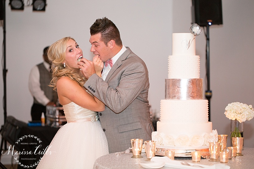 Cake Cutting | Shannon Bond Cake Design | Marissa Cribbs Photography | The Gallery Event Space | KC wedding Photographer