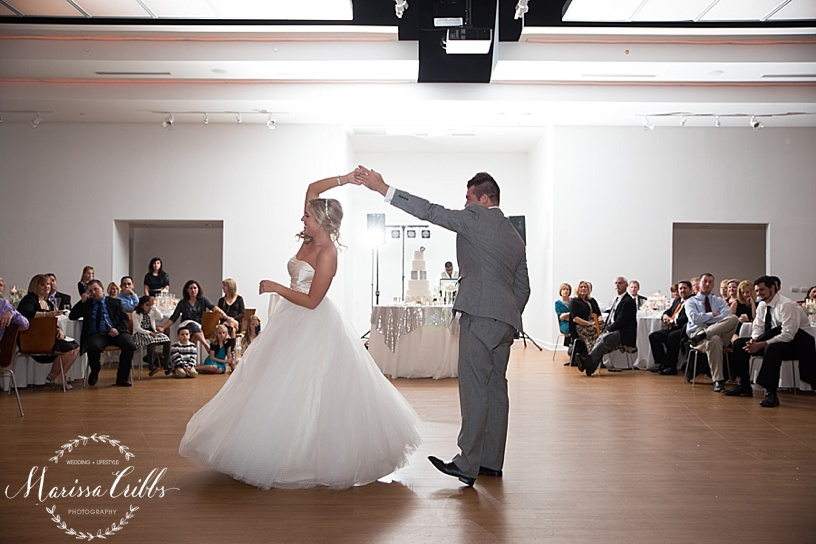 Husband and Wife First Dance | Marissa Cribbs Photography | The Gallery Event Space | KC wedding Photographer