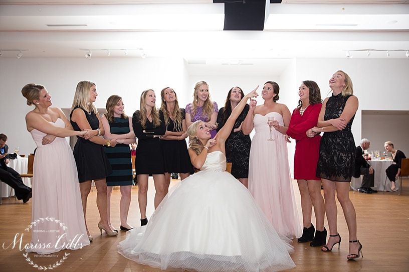 KC Wedding Reception | Sorority Song | Marissa Cribbs Photography | The Gallery Event Space | KC wedding Photographer