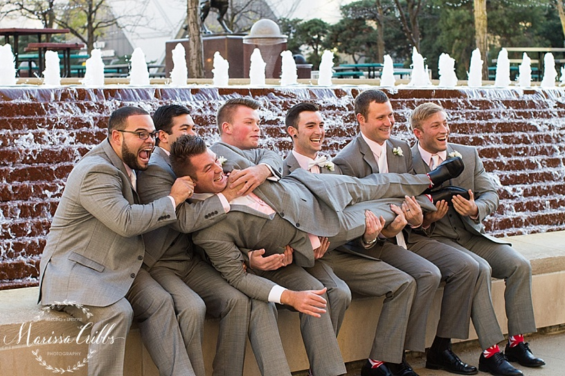 Groomsmen Photos | Marissa Cribbs Photography | KC Wedding Photographer