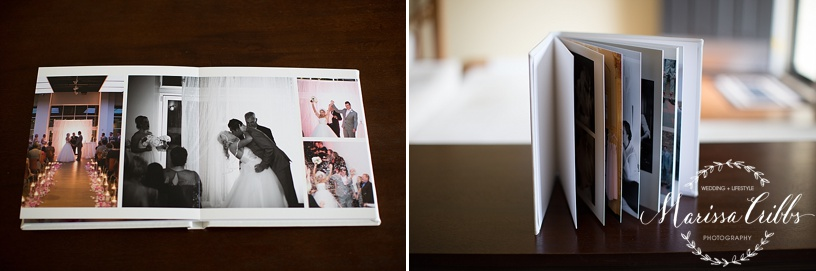 Leather Signature Wedding Album | Marissa Cribbs Photography | KC Wedding Photographer
