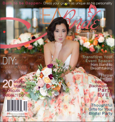 "WE MADE THE COVER | E A Bride Summer 2015 | Six Page Editorial Inside ""Beauty and The Blooms"""