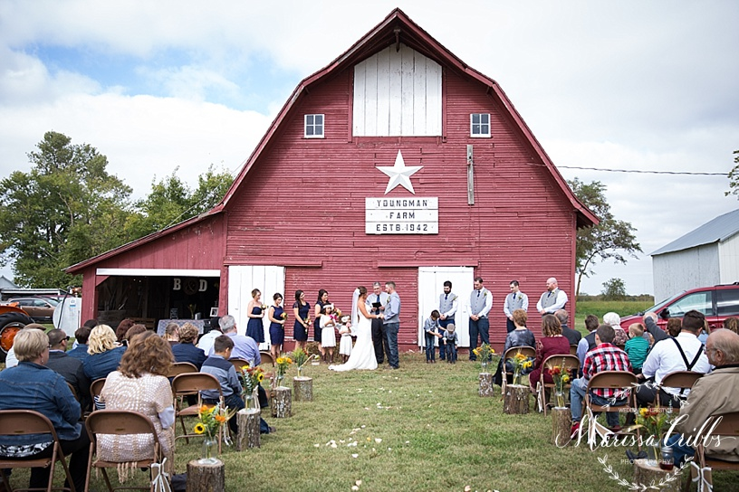 Kansas City Wedding Photographer | Country Wedding | Barn Wedding | Marissa Cribbs Photography_1377.jpg