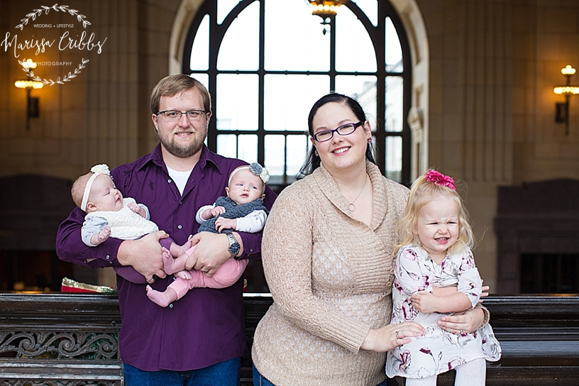 Rodgers Twins 3 Months | Union Station | KC Baby Photographer | KC Family Photographer | Marissa Cribbs Photography_2212.jpg