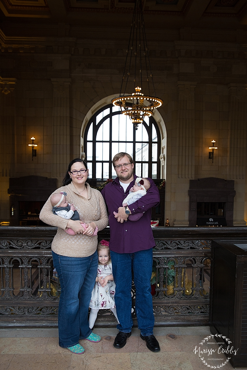 Rodgers Twins 3 Months | Union Station | KC Baby Photographer | KC Family Photographer | Marissa Cribbs Photography_2217.jpg