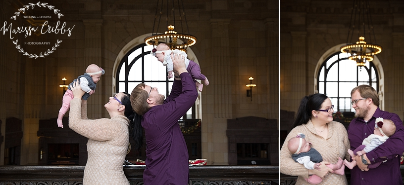 Rodgers Twins 3 Months | Union Station | KC Baby Photographer | KC Family Photographer | Marissa Cribbs Photography_2222.jpg