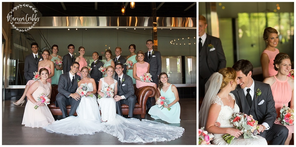 Twin Double Wedding | Union Horse Distilling Co. | Marissa Cribbs Photography | KC Weddings_0077.jpg