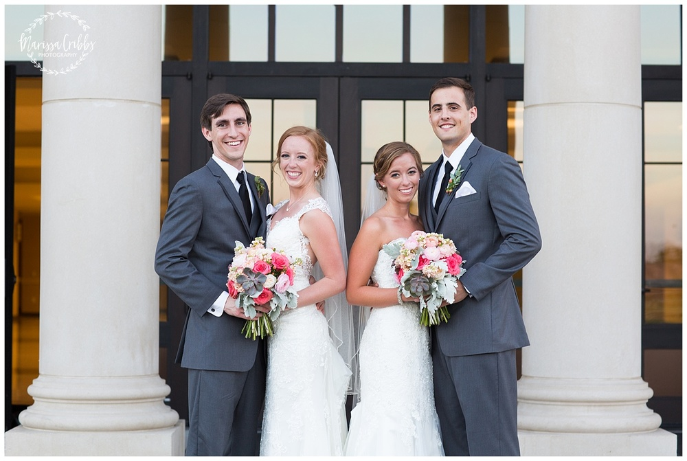 Twin Double Wedding | Union Horse Distilling Co. | Marissa Cribbs Photography | KC Weddings_0164.jpg