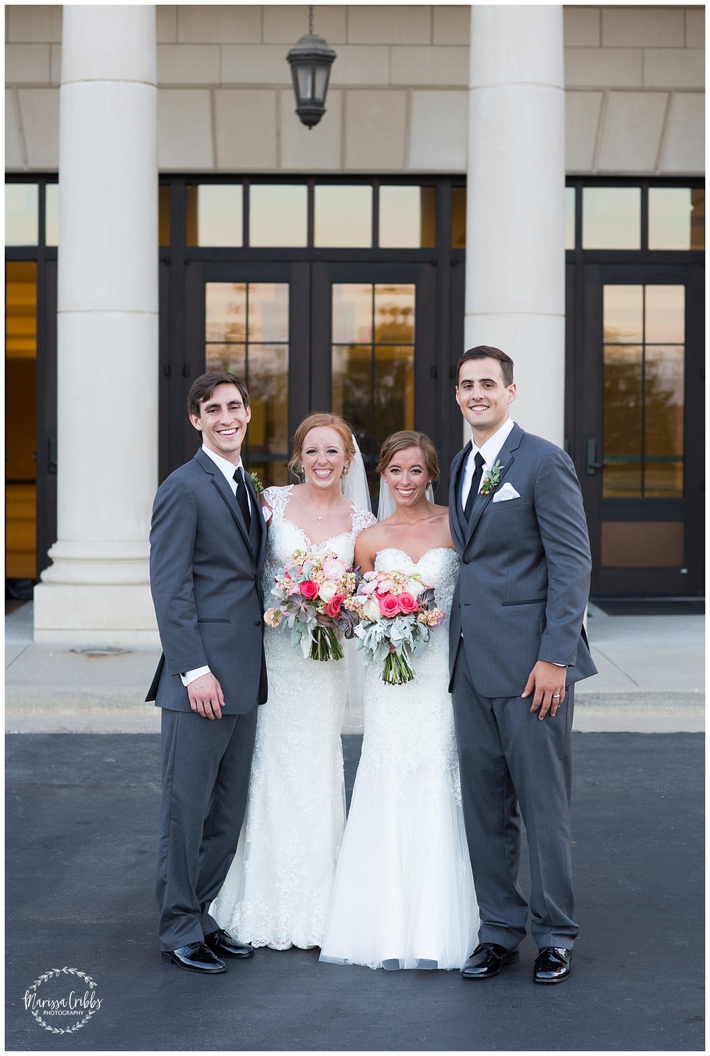 Twin Double Wedding | Union Horse Distilling Co. | Marissa Cribbs Photography | KC Weddings_0165.jpg