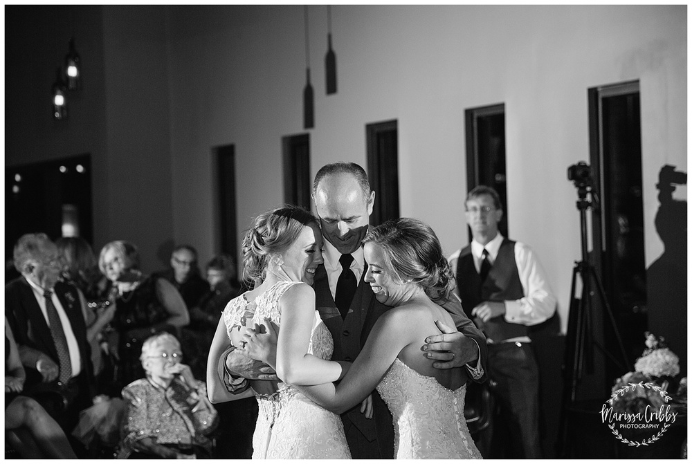 Twin Double Wedding | Union Horse Distilling Co. | Marissa Cribbs Photography | KC Weddings_0214.jpg
